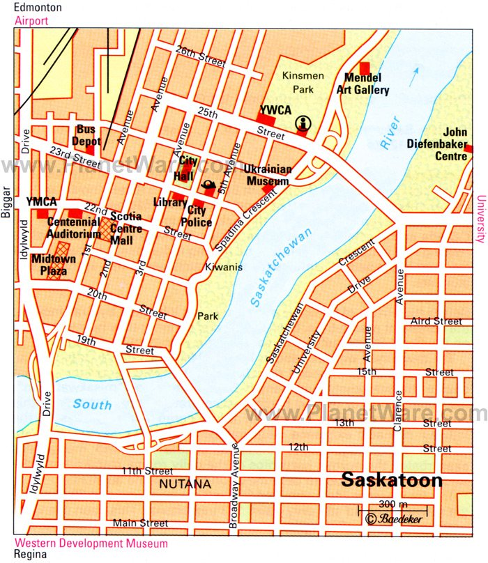 Saskatoon Map - Tourist Attractions