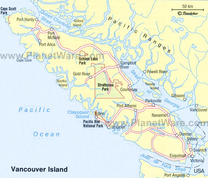 map of vancouver canada