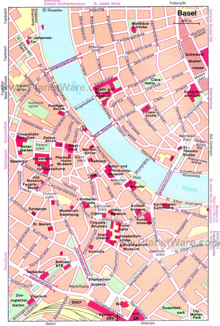 Basel Map - Tourist Attractions