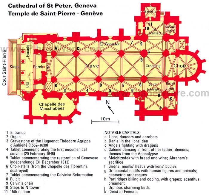 Cathedral of St Peter - Floor plan map