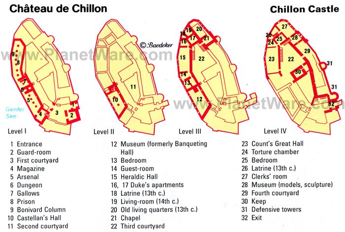 Château de Chillon - Floor plan map