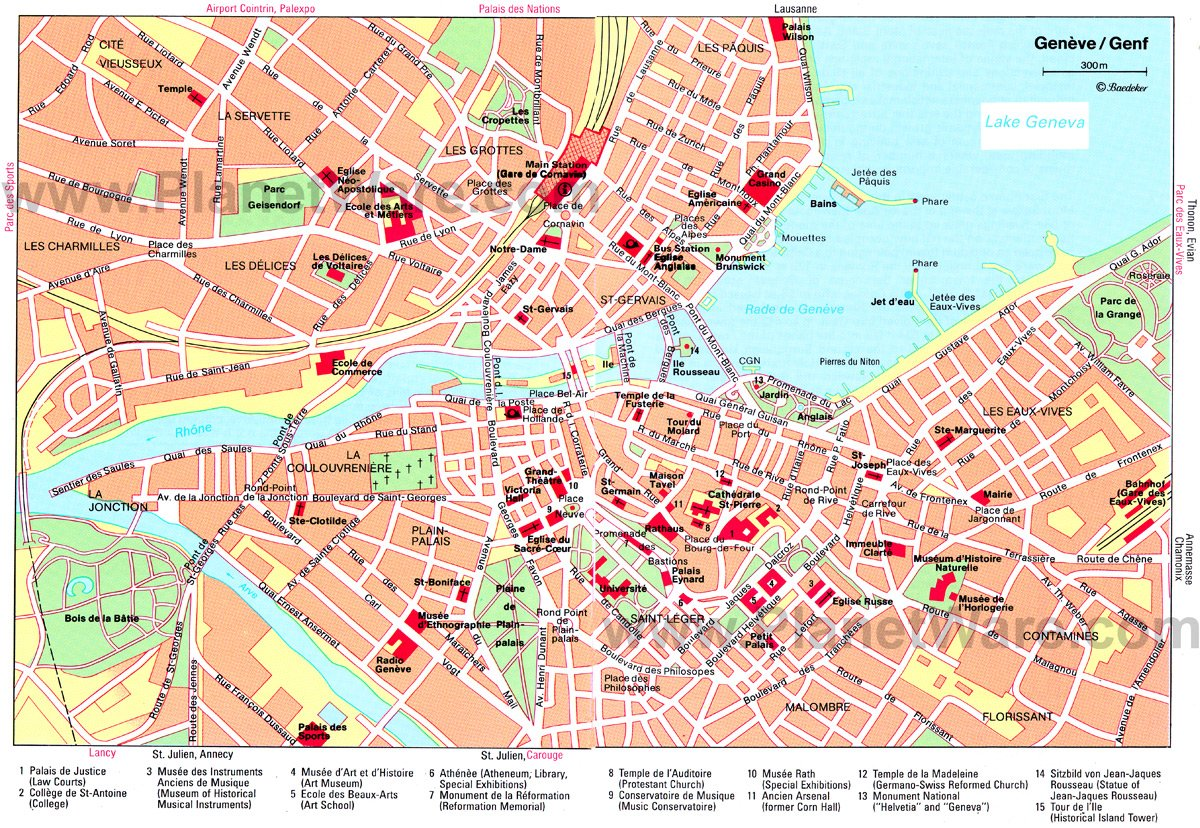 Geneva Map - Tourist Attractions