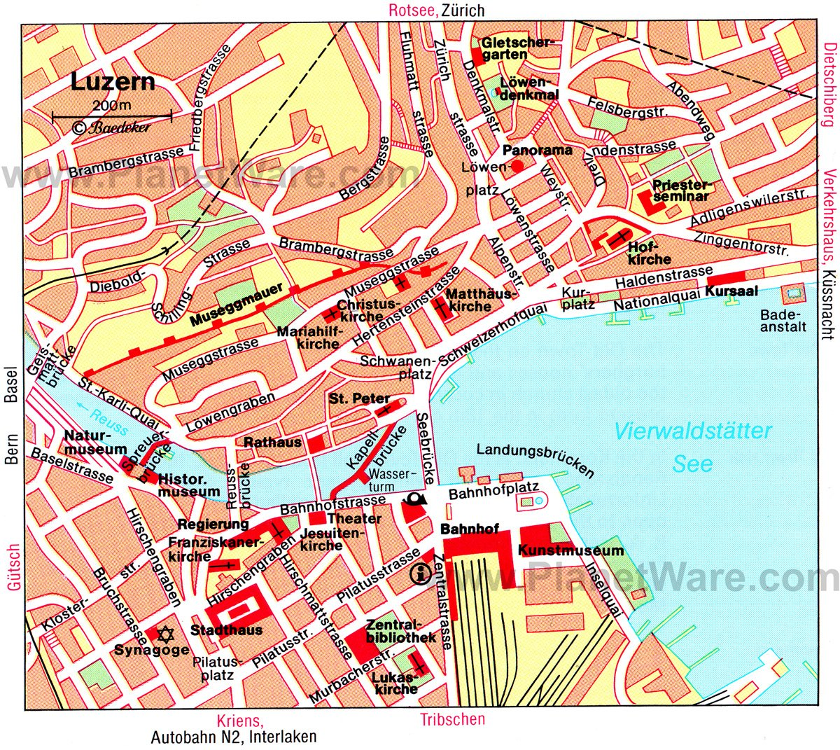 Luzern Map - Tourist Attractions