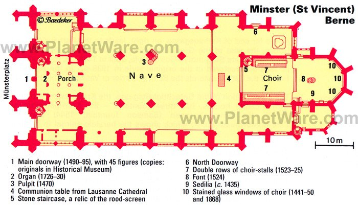 Minster (St Vincent) Berne - Floor plan map