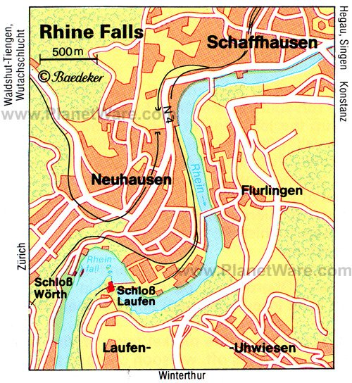 Rhine Falls - Layout map