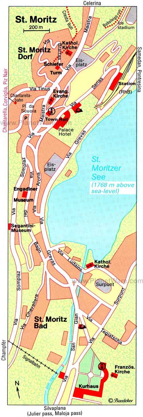 St Moritz Map - Tourist Attractions