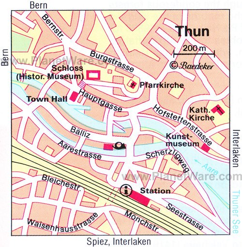 Thun Map - Tourist Attractions