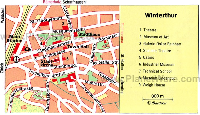 Winterthur Map - Tourist Attractions