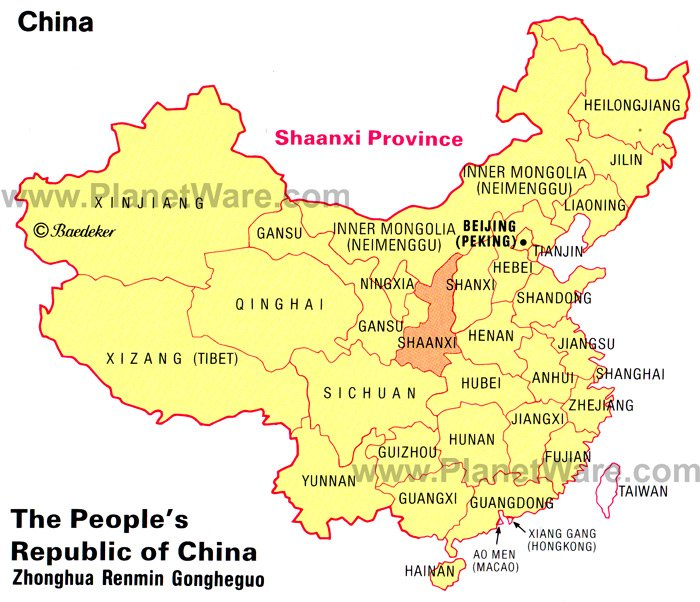 Shaanxi Province Map