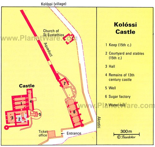 Kolossi Castle - Floor plan map