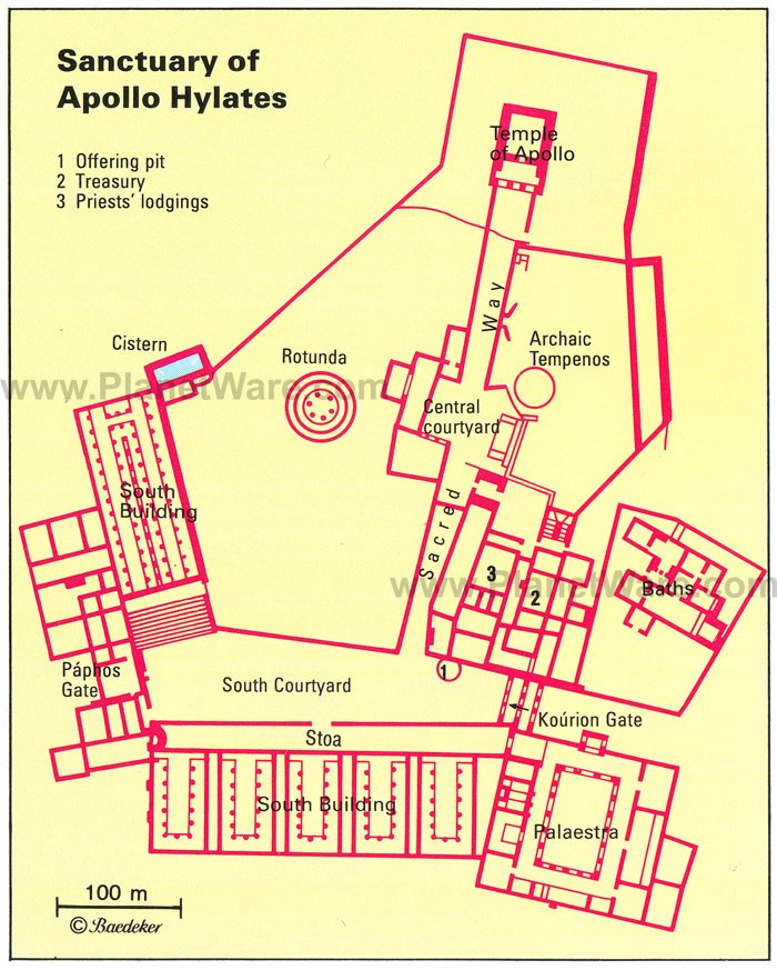 Sanctuary of Apollo Hylates - Floor plan map