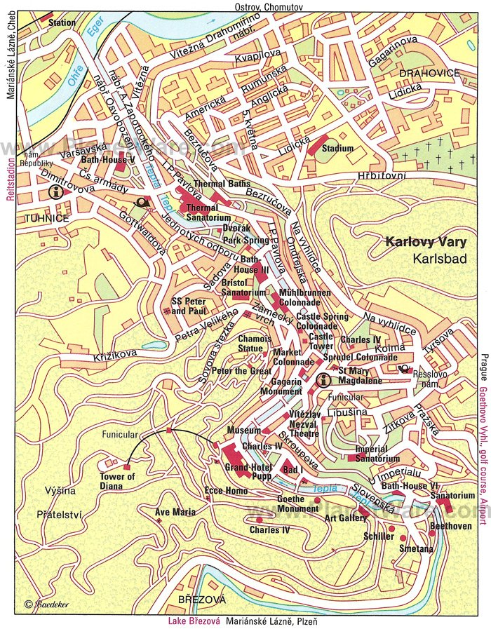 Karlovy Vary Map - Tourist Attractions