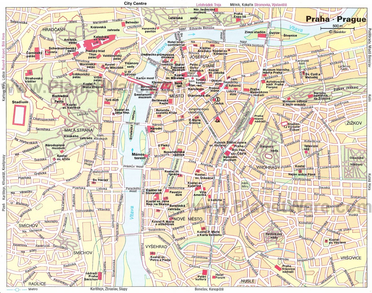 places to see in prague map 20 Top Rated Tourist Attractions In Prague Planetware places to see in prague map