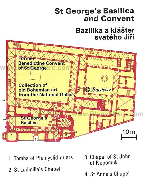 St George's Basilica and Convent - Floor plan map