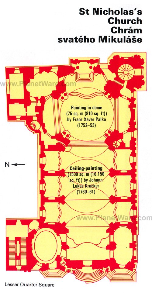 St Nicholas's Church - Floor plan map