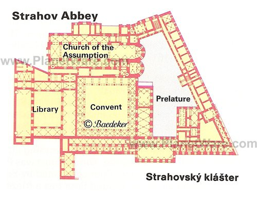 Strahov Abbey - Floor plan map