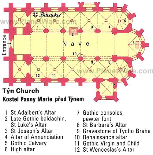 Tyn Church - Floor plan map