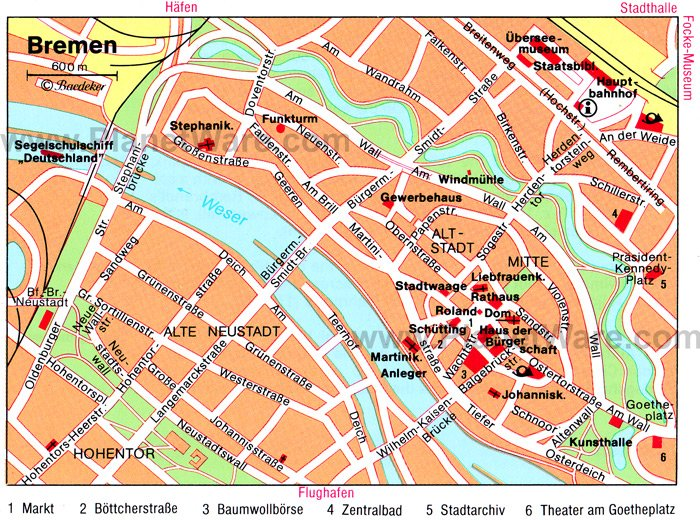 Top Tourist Attractions In Bremen Easy Day Trips PlanetWare - Germany map bremen