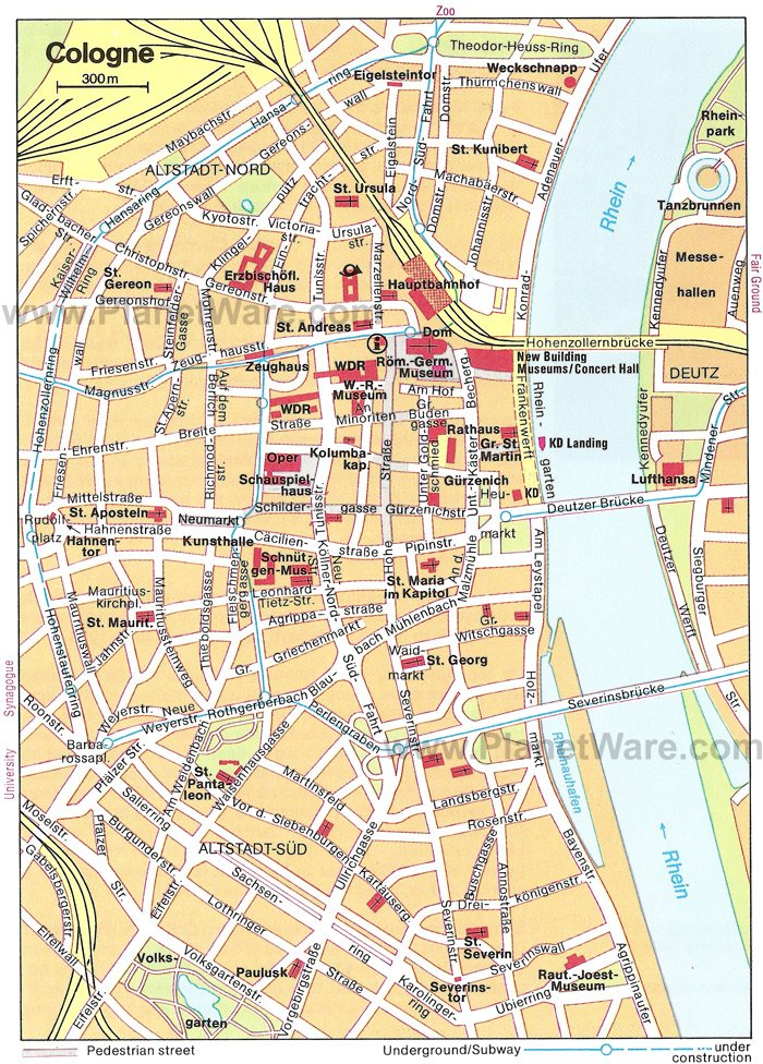 cologne map tourist attractions - Koln Must See
