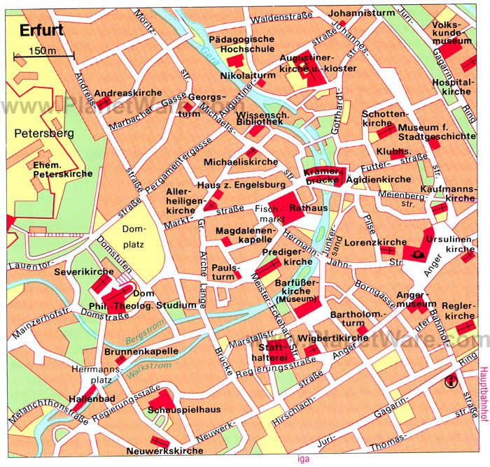 Erfurt Map - Tourist ...