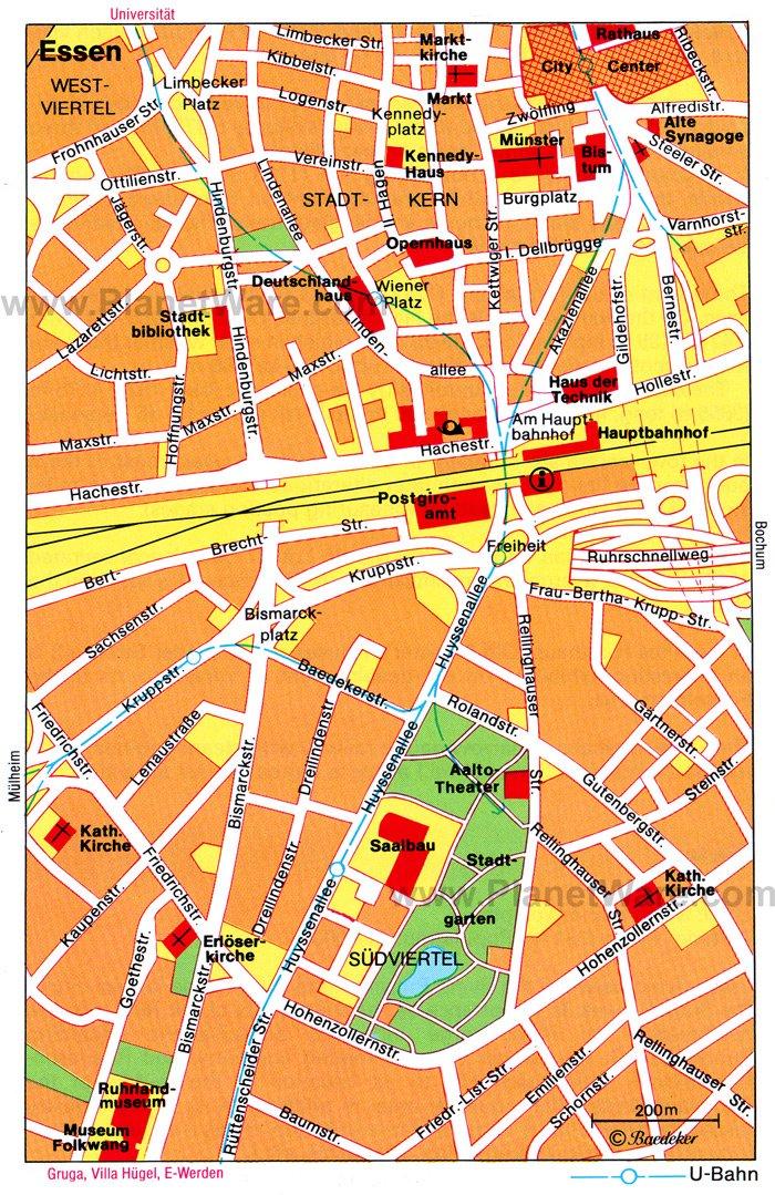 Essen Germany  City pictures : ESSEN GERMANY MAP Pales Fenen