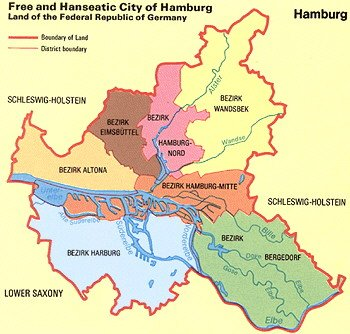 Map Hamburg City Maps