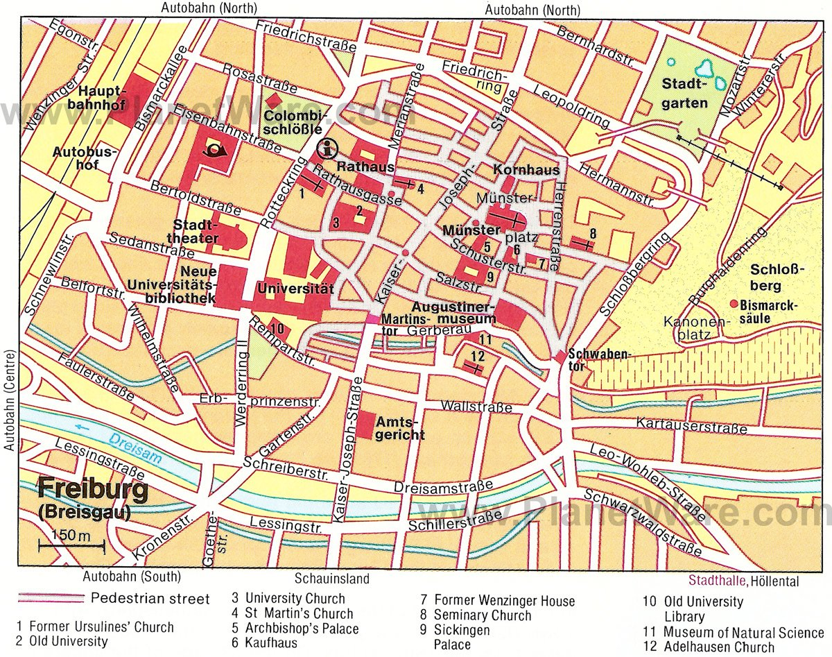 Freiburg im Breisgau Map - Tourist Attractions
