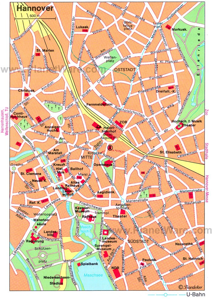 Hannover Map - Tourist Attractions