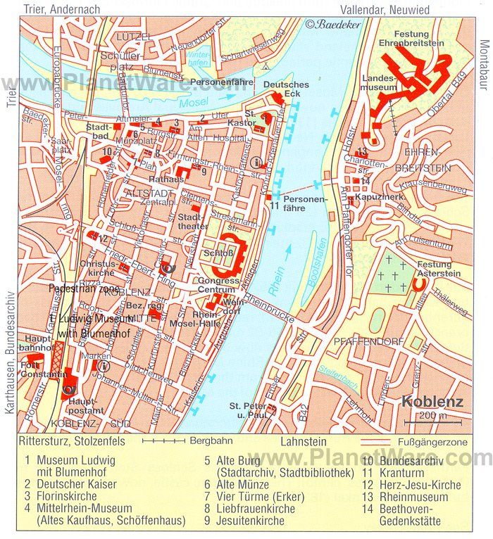 10 TopRated Tourist Attractions in Koblenz – Germany Tourist Attractions Map