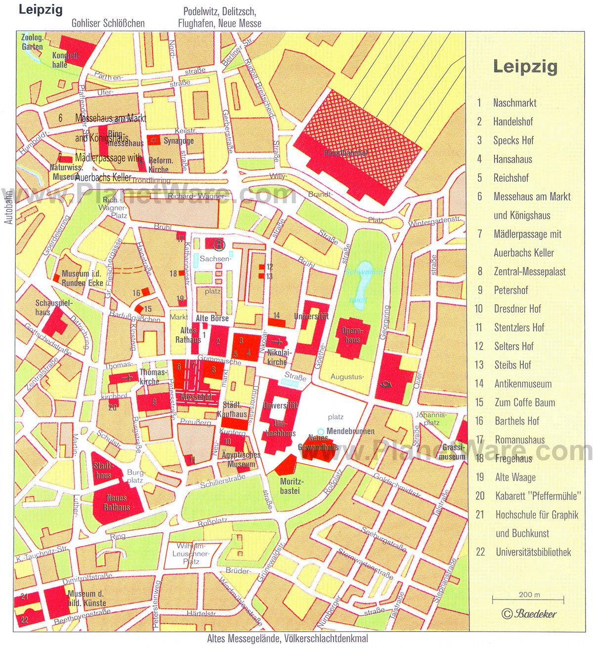 Leipzig Map - Tourist Attractions