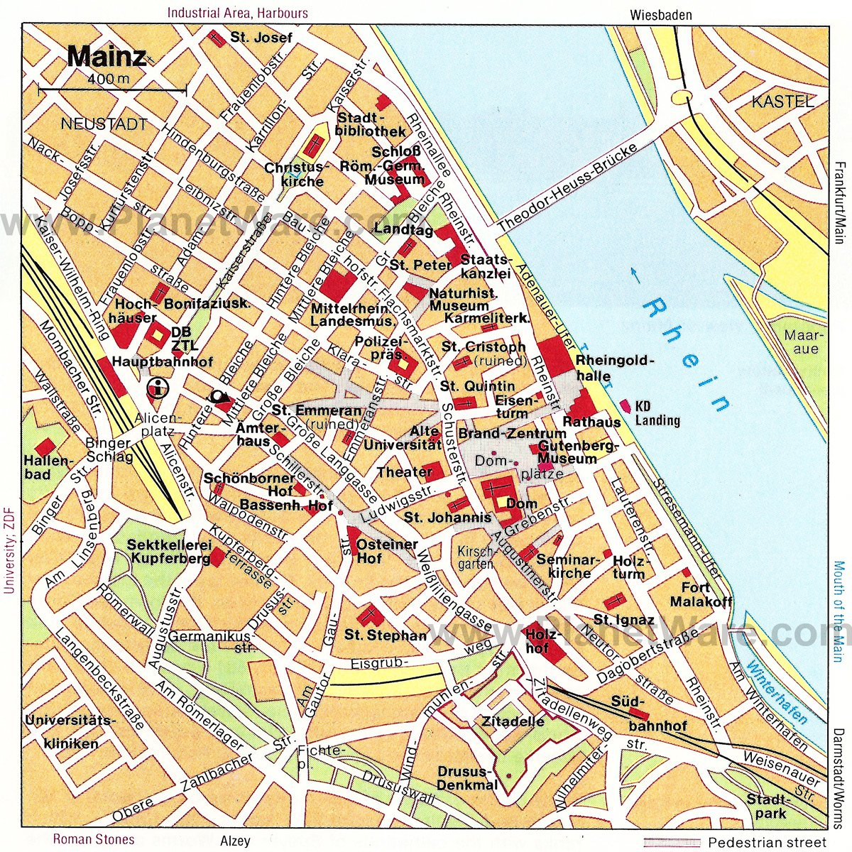 toprated tourist attractions in mainz  planetware - mainz map  tourist attractions