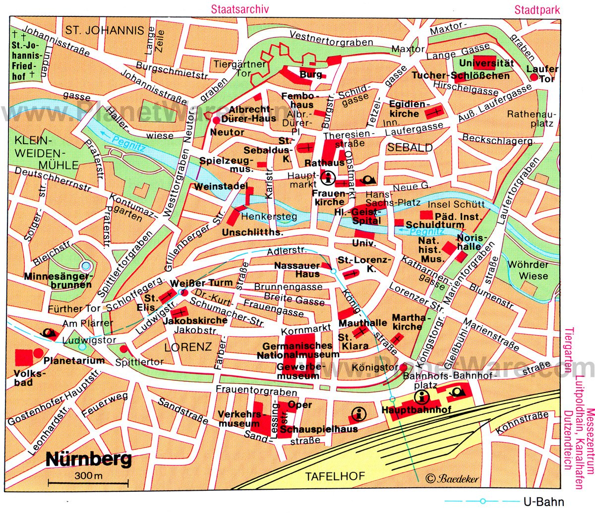 {12 Top Tourist Attractions in Nuremberg and Easy Day Trips – Nuremberg Tourist Map