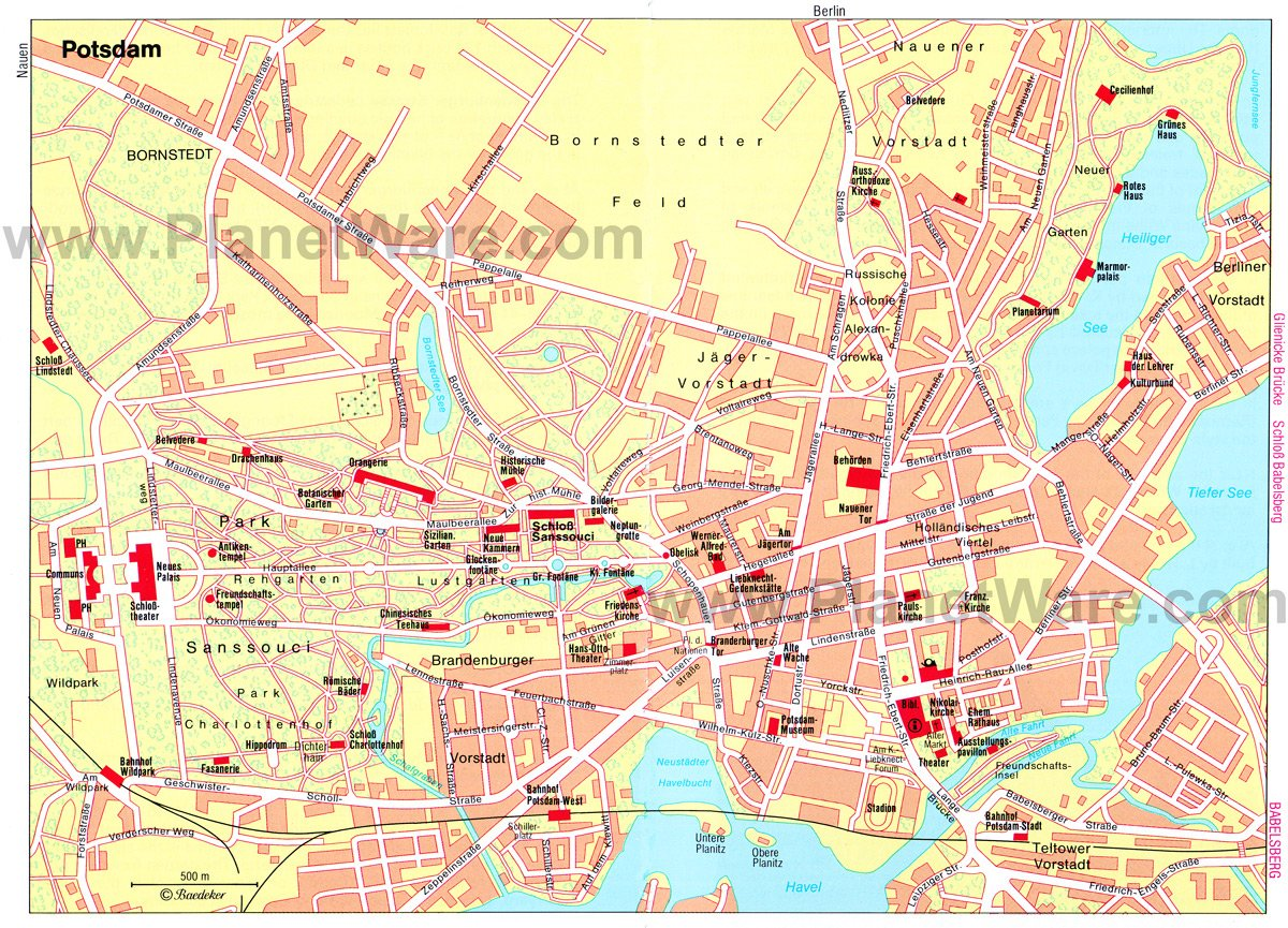 TopRated Tourist Attractions In Potsdam PlanetWare - Berlin map of tourist attractions