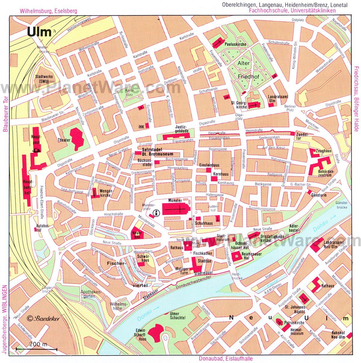 Ulm Map - Tourist Attractions