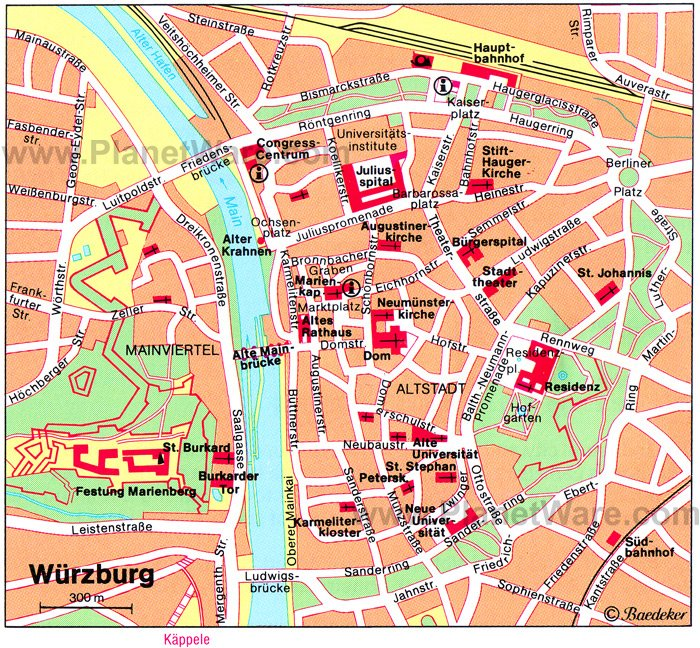 8 TopRated Tourist Attractions in Wurzburg – Nuremberg Tourist Map