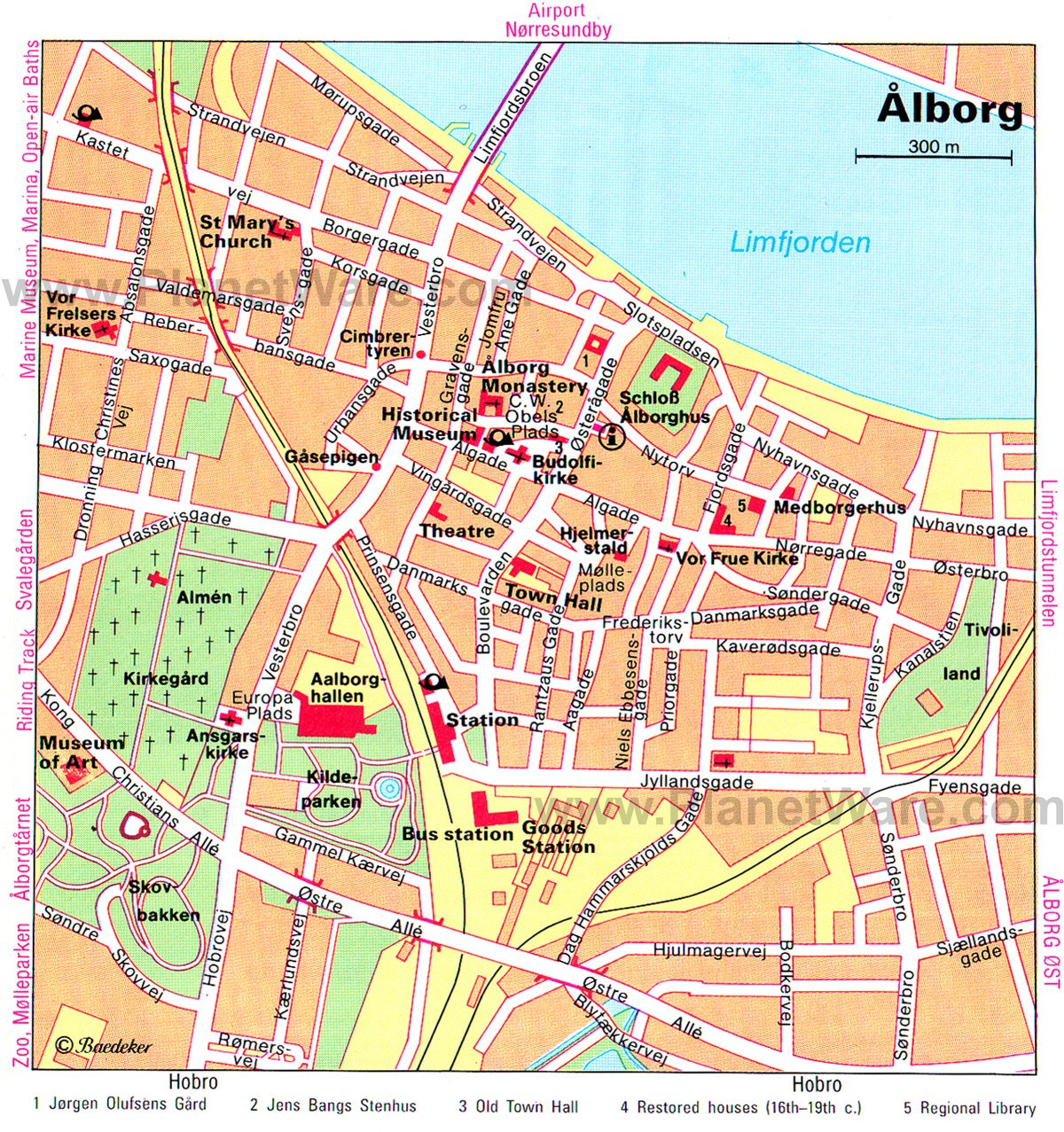 Aalborg Denmark Cruise Port of Call Aalborg Map
