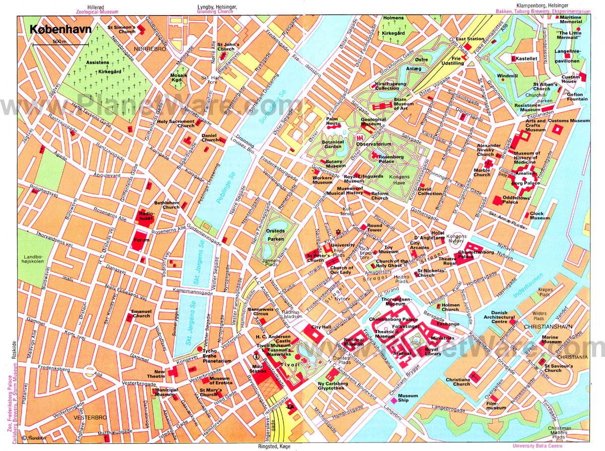 12 Top Tourist Attractions in Copenhagen and Easy Day Trips – Copenhagen Tourist Map