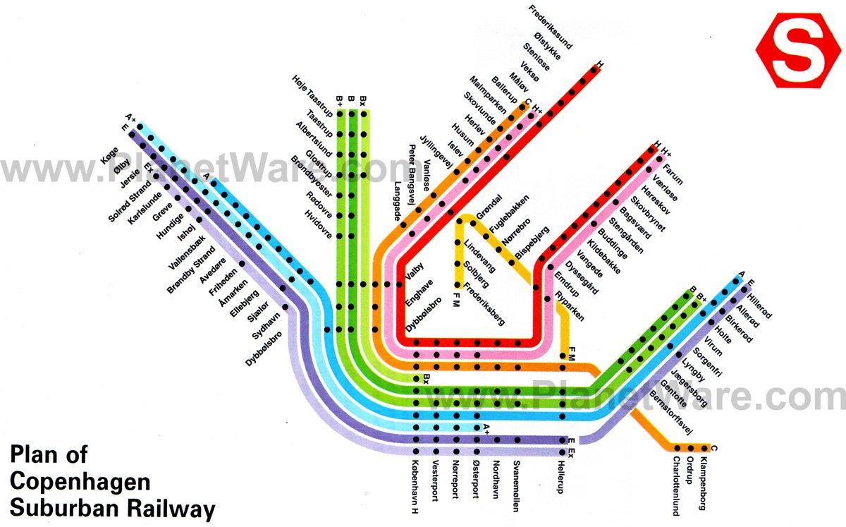 Copenhagen Denmark Metro Map images