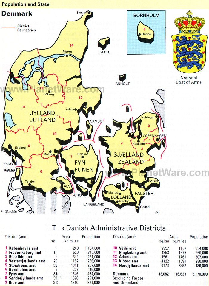 Map of Denmark | PlanetWare Denmark In The Map on