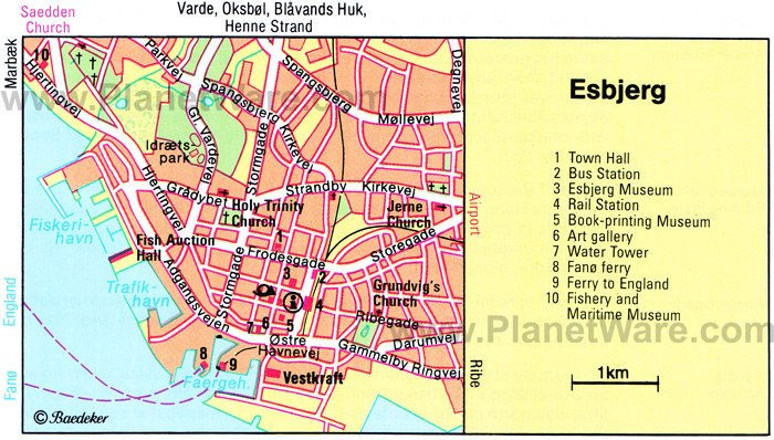 Esbjerg Map - Tourist Attractions