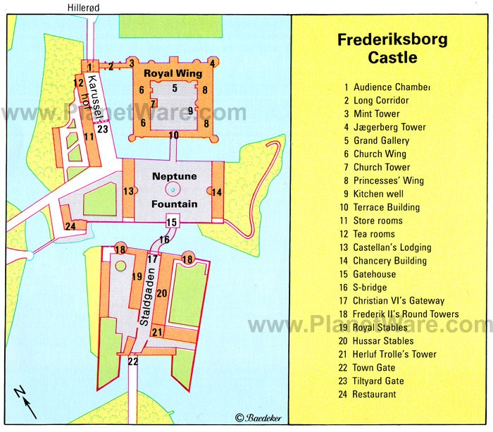 Frederiksborg Castle - Floor plan map