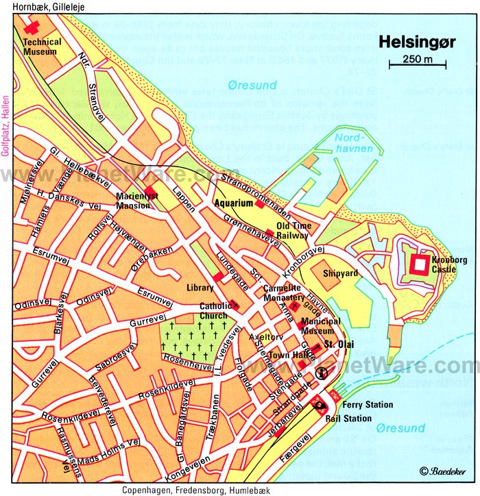 Helsingør Map - Tourist Attractions