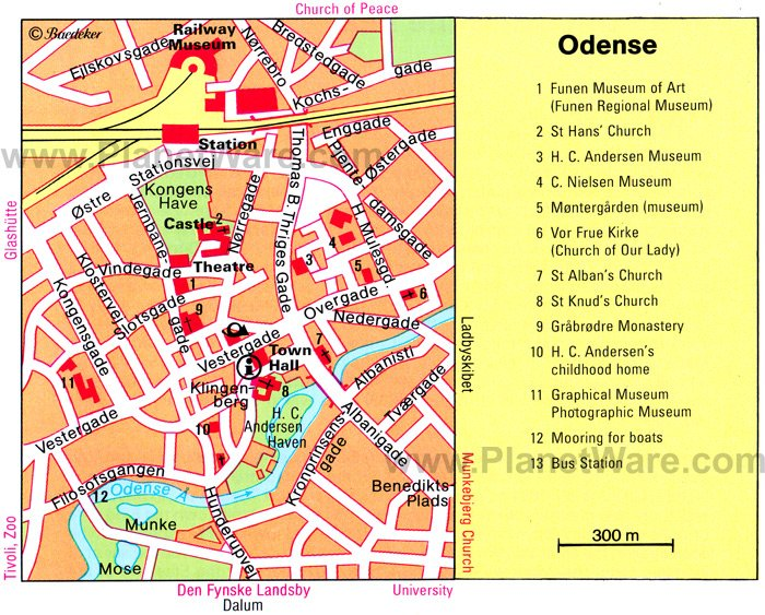 Odense Map - Tourist Attractions
