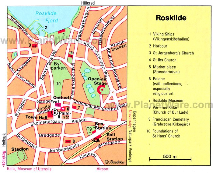 Roskilde Map - Tourist Attractions