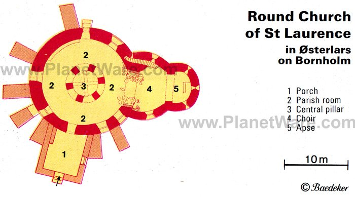 Round Church of St Laurence - Floor plan map