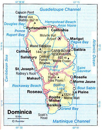 Windward Islands Map. Windward Islands,