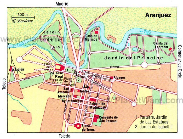 Aranjuez Map - Tourist Attractions