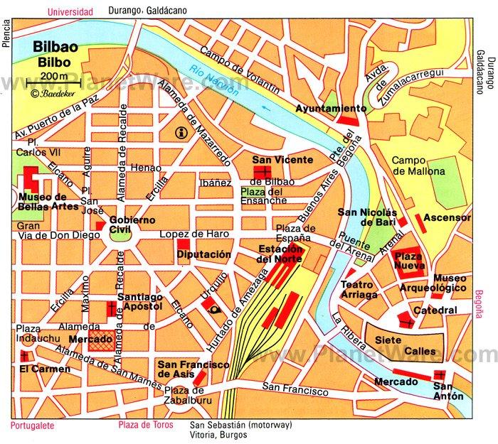 Bilbao Spain Map Printable Map of Bilbao