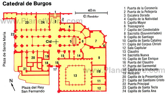Burgos Catedral - Floor plan map