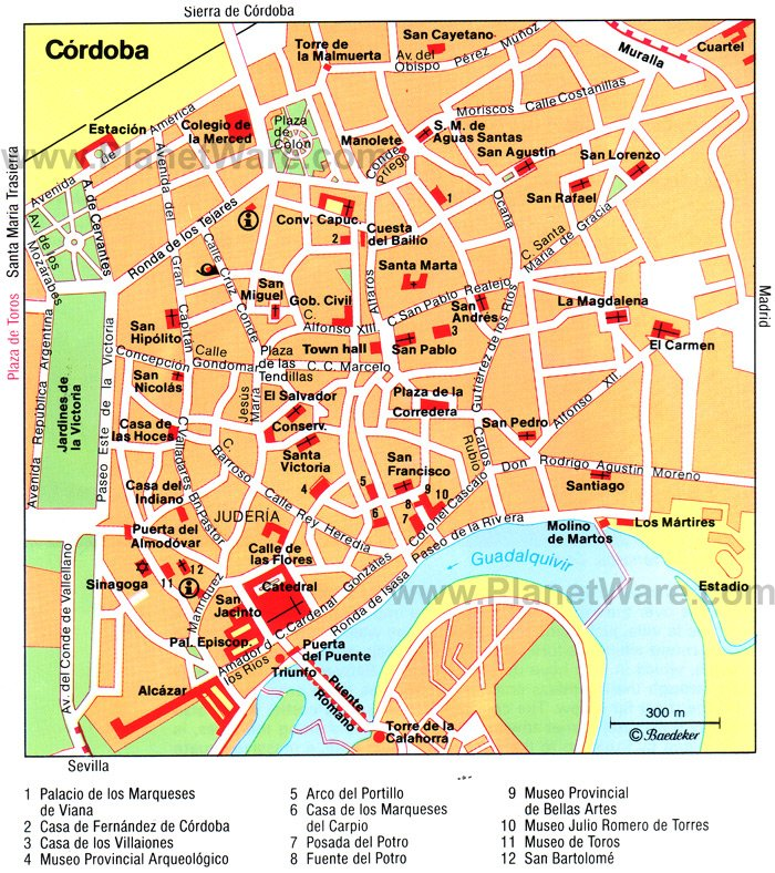 Córdoba Map - Tourist ...